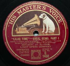 "12"" 78 - Light Opera Company - Lilac Time - Vocal Gems - HMV C1450"