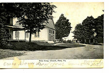 Peru Congregational Church-Buildings-Peru-Vermont-Vintage 1911 Postcard