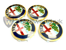 Set di 4 autentico ufficiale ALFA ROMEO 156 50MM LEGA RUOTA, CENTER CAPS 60652886
