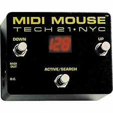 Tech 21*MIDI Mouse* Battery Operable MIDI Guitar Foot Pedal FREE 2D SHIP NEW