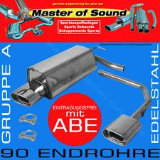 MASTER OF SOUND DUPLEX EDELSTAHL AUSPUFF VW GOLF 4 CABRIO 98-02