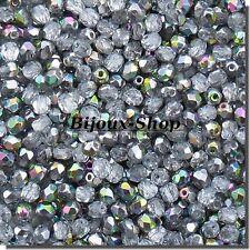 75 Perles de bohème facette 5mm Tchèque coloris chrystal vitrail medium