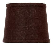 UpgradeLights Chocolate Linen 6 Inch Drum Style Clip On Chandelier Lampshade