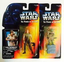 """HASBRO /KENNER STAR WARS 3.75INCH POWER OF THE FORCE """" LUKE & YODA """" - RARE"""