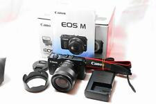 """NEAR MINT"" CANON EOS DSLR MIRRORLESS CAMERA W/ EF-M 18-55mm F3.5-5.6 [F/S]JAPAN"