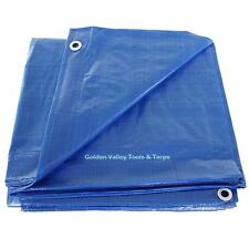 7' x 9' BLUE POLY TARP  ** Free Shipping **