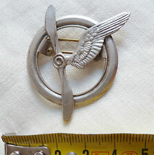 INSIGNE BREVET PERS. VOLANT AVION ARMEE AIR 1920/1940 ORIGINAL FRENCH WINGS WWII
