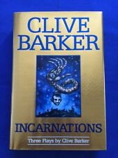 INCARNATIONS. THREE PLAYS BY CLIVE BARKER - 1ST.  INSCRIBED BY CLIVE BARKER