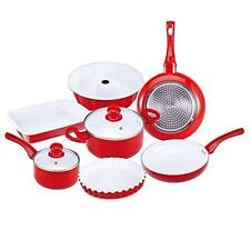 ROYALTY LINK 9 pezzi Induction Cookware Pan Set Rosso Pane Baking Pan Cake stampo
