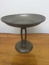 Vintage English Pewter Archibald Knox hand Hammered Compote