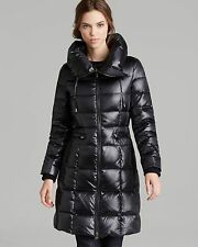 NEW BCBG MAX AZRIA BLACK QUILTED DOWN PUFFER COAT SZ S SMALL
