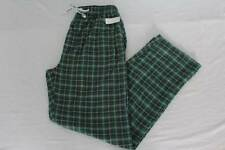 NEW Mens Lounge Pants Size 2XL 44 - 46 Pajamas Sleepwear Green Plaid Pockets PJs