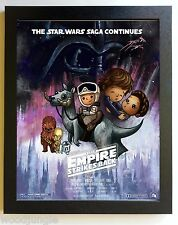 FRAMED STAR WARS THE EMPIRE STRIKES BACK  MOVIE POSTER SIGNED   CHILD'S ROOM ART
