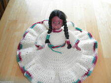 Vintage Hand Crochet Dress American Native INDIAN Girl Child DOLL Soft Body A+