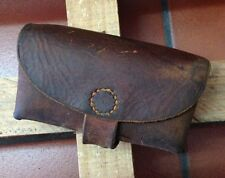 1927 Swiss Army MIlitary Ammo Cartridge Pouch Belt Leather Vintage