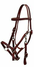 BURGUNDY Leather Horse Halter Bridle Combination with Reins! NEW HORSE TACK!