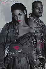 RIHANNA & KANYE WEST - A3 Poster (ca. 42 x 28 cm) - Clippings Fan Sammlung NEU