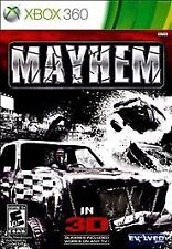 Mayhem 3D. Xbox 360. Rare. With Case. Free Shipping. Fast Shipping. With Glasses