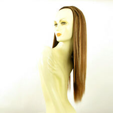 Demi-tête, demi-perruque 60cm châtain cuivré méché blond clair ref 014 en 6bt27b