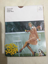 """Tan Brown Maternity Support Tights Vintage XL2 5'2-5""""5' panty hose old stock New"""