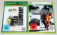 2 XBOX 360 SPIELE BUNDLE - BATTLEFIELD BAD COMPANY 1 & 2 - EGO SHOOTER