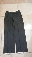 "ANN TAYLOR LOFT ""LAURA"" Black and White Lined PinStripe  Pants Size 8"