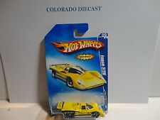 2009 Hot Wheels #95 Yellow Ferrari 512M w/PR5 Spoke Wheels