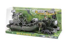 Kids Military Force Amphibious Play Set - Woodland Camouflage - 6 Piece Playset