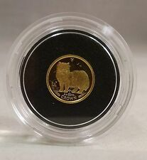 1989 Gold Crown 1/25 oz Isle of Man Persian Cat Coin Uncirculated PROOF 1/25th