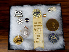 Antique Religious Christian Temperance WCTU Medals & Ribbons Suffragette Pins