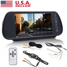 "7""LCD Mirror Monitor Car Rear View Night Vision Backup Camera WA@"