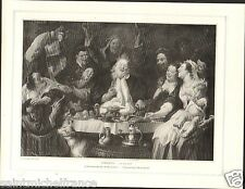 King Drinks le Roi Boit 1640 Jacob Jordaens Netherlands PLANCHE 1906