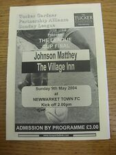 09/05/2004 Cambridgeshire Alliance Sunday League Cup Final: Johnson Matthey v Th