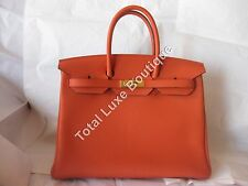 BNWT AUTHENTIC Hermes Birkin Bag 35cm Terre Battue Togo Gold Hardware