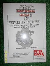 RENAULT EXTRA 1.6L & 1.9L F8M & F8Q DIESEL ENGINE WORKSHOP MANUAL 1991  & 1993