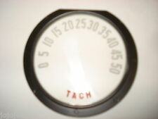 Tachometer Lens, With Numbers.  New.  53-55 Corvette