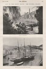 1901 'OFF TO THE SUNNY SOUTH' MENTONE PICTURES FRANCE RIVIERA