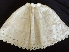 Antique Ayrshire Lace Dolls Petticoat Slip Dress Under Clothes Underwear Doll