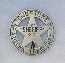Tombstone Arizona Territory Sheriff Old West Replica Lawman Badge Deputy PH005