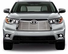 FITS TOYOTA HIGHLANDER 2014-2015 STAINLESS CHROME BILLET GRILLE INSERT TOP ONLY