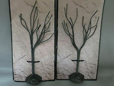 "New 2 Black Bare Trees Halloween Haunted Village Spooky 6"" Tall"