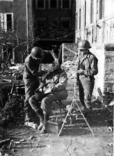 Photo. WW2. US Soldier Using Dental Drill Made From German Car & Jeep Battery