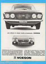 QUATTROR966-PUBBLICITA'/ADVERTISING-1966- VOXSON - AUTORADIO EXPLORER 811-P
