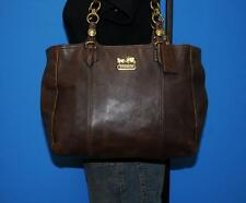 COACH MIA Large Brown Leather Tote Shoulder Carryall Shopper Purse Bag 15740