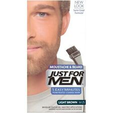 JUST FOR MEN BRUSH IN GEL BEARD LIGHT BROWN NEW UK