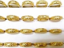 Wholesale Lot of 25pc Assorted Indian 24k Top Item GoldPlated Brass Ring 16-19mm