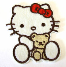Hello Kitty with Teddy Iron On Applique Patch