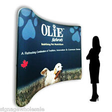 10ft Single Sided Curved Portable Tension Fabric Wall (Graphics Included)