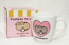 Pusheen White Catpusheeno Ceramic Coffee Mug by Isaac Morris 18 oz  PU-46W