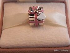 NEW! AUTHENTIC PANDORA CHARM .925 WRAPPED WITH LOVE #791132EN24 HINGED BOX INCL